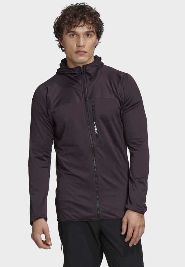 TRACEROCKER HOODED FLEECE JACKET - Fleece jacket - purple
