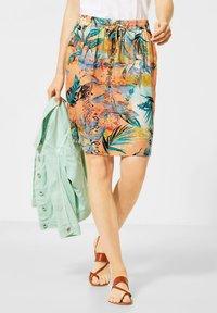 Cecil - A-line skirt - orange - 0