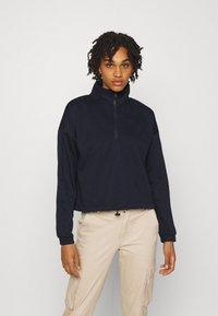Vero Moda - VMNATALIE HIGHNECK ZIP  - Sweatshirt - night sky - 0