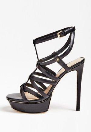 MADRA SANDALEN ECHT LEDER - High heeled sandals - black