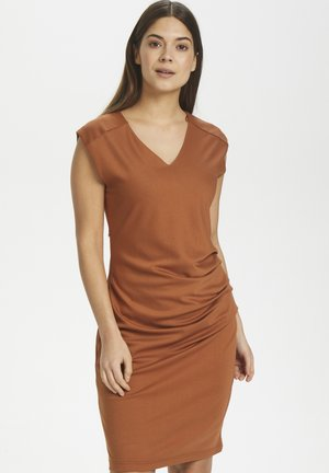 INDIA V NECK DRESS - Shift dress - sierra