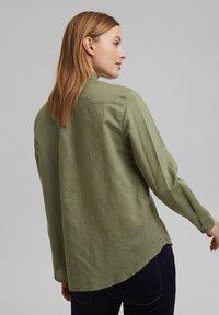 Esprit - CORE - Button-down blouse - light khaki - 2