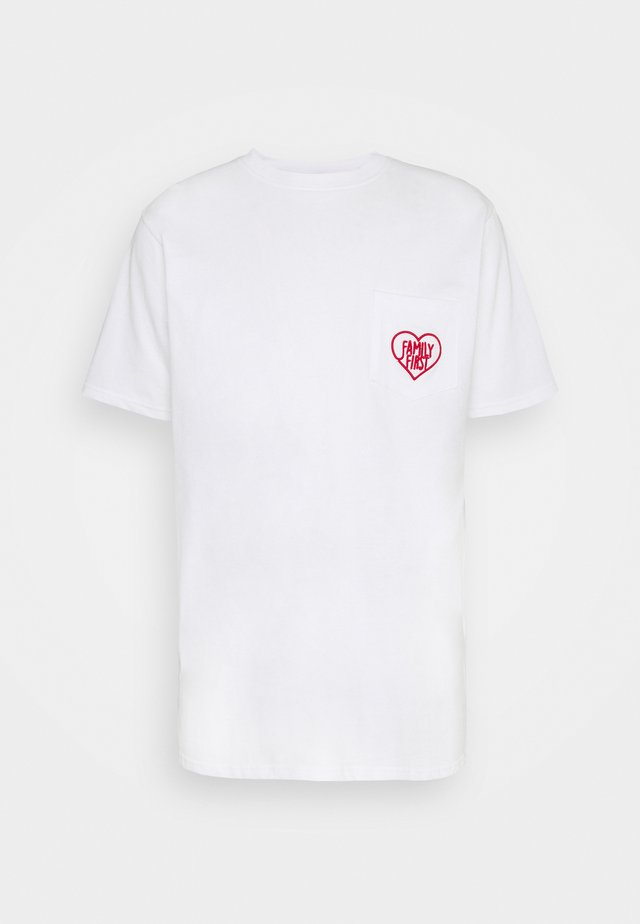 HEART - T-shirt print - white