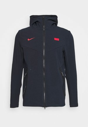 FRANKREICH HOODIE - Nationalmannschaft - dark obsidian/university red