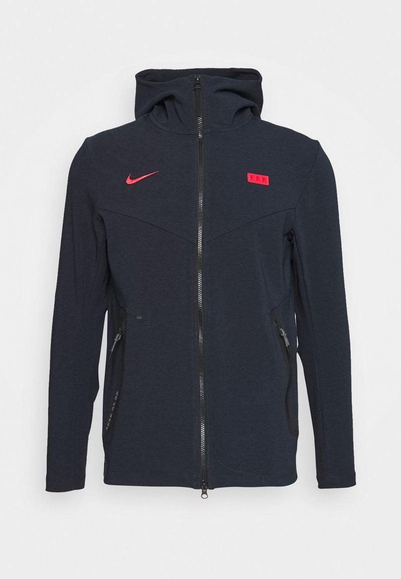 Nike Performance - FRANKREICH HOODIE - National team wear - dark obsidian/university red
