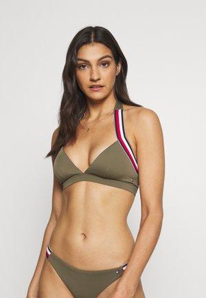 CORE SIGNATURE TRIANGLE FIXED - Bikini top - army green