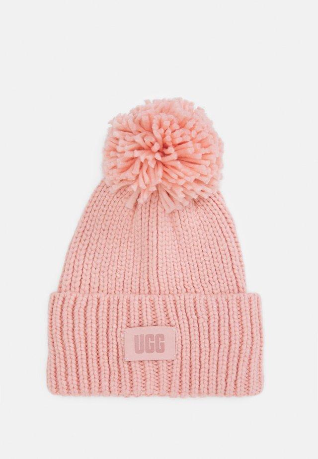 CHUNKY BEANIE POM - Mütze - pink cloud