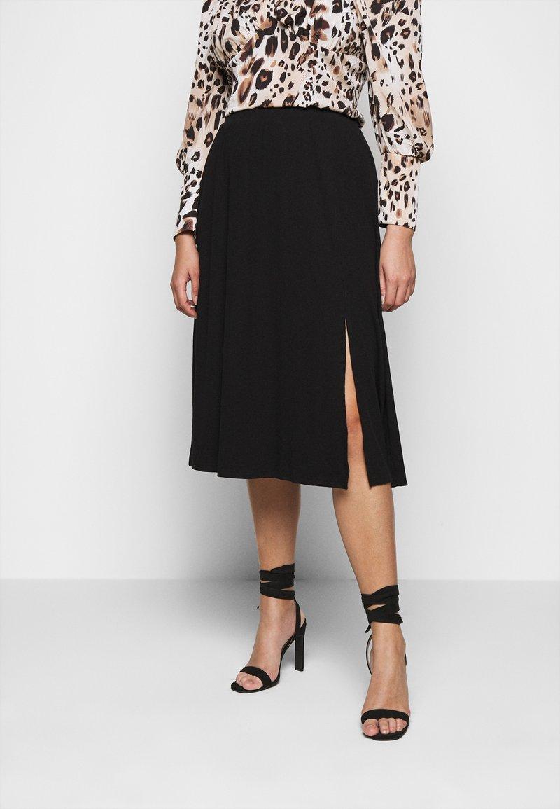 Vero Moda Curve - VMEY BELOW KNEE SKIRT - A-line skirt - black