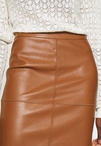 Vila - VIPEN NEW SKIRT - Pencil skirt - oak brown - 4