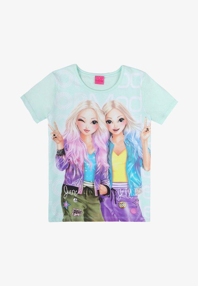 Print T-shirt - fair aqua
