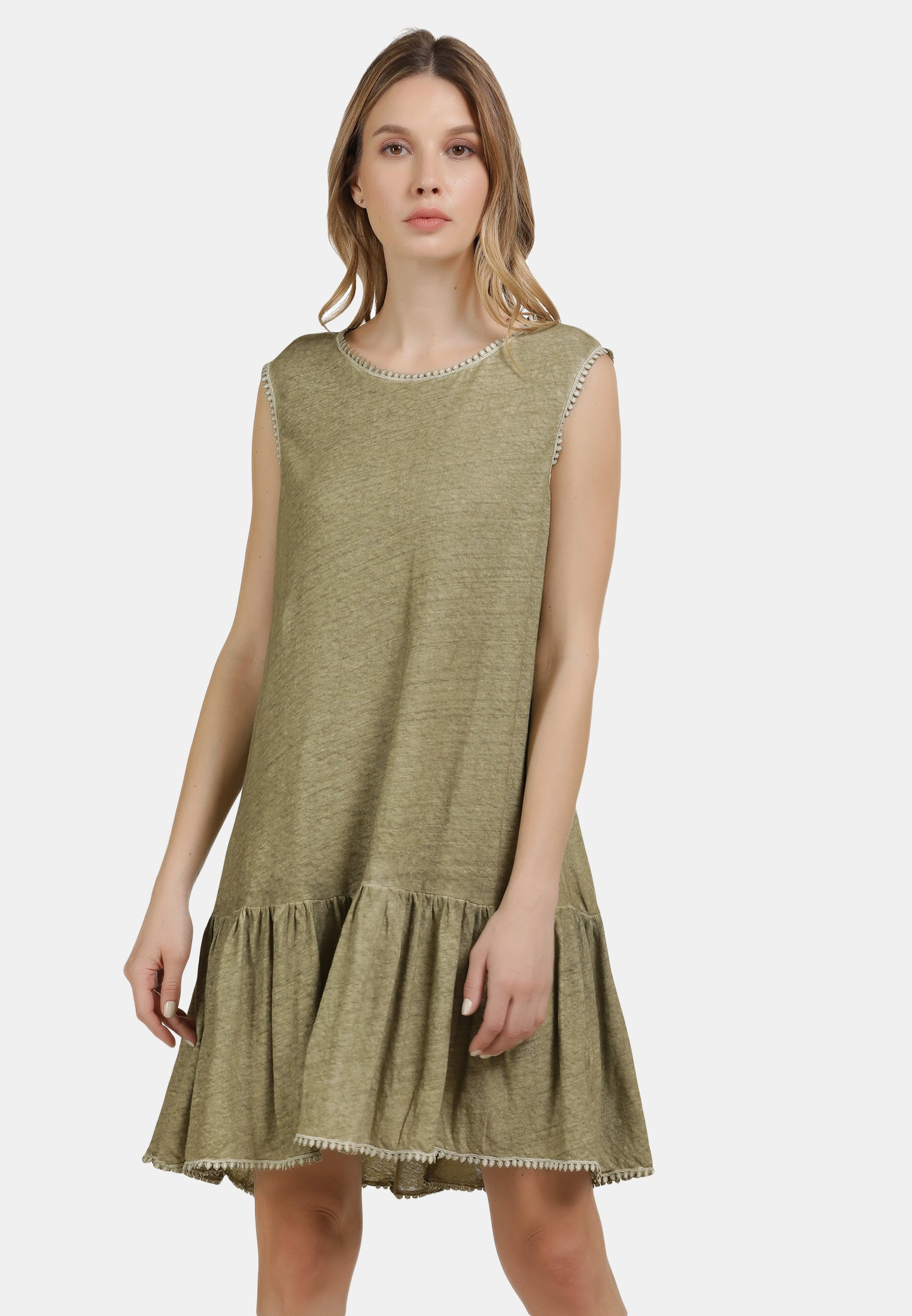 Damen LEINENKLEID - Jerseykleid
