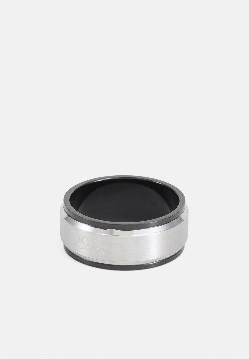 BOSS - Anello - silver-coloured/black