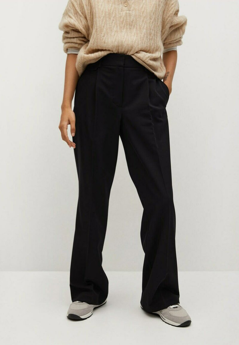 Mango - POCKET - Trousers - zwart