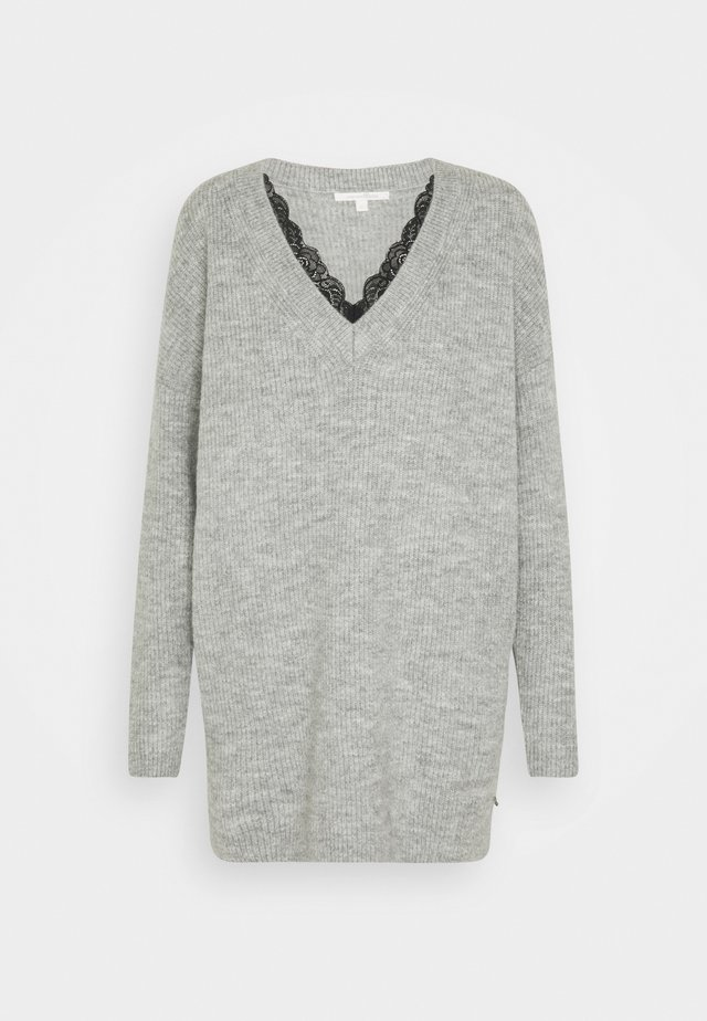 Pullover - light silver grey mélange
