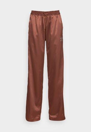 WIDE LEG PANT - Tygbyxor - earth brown