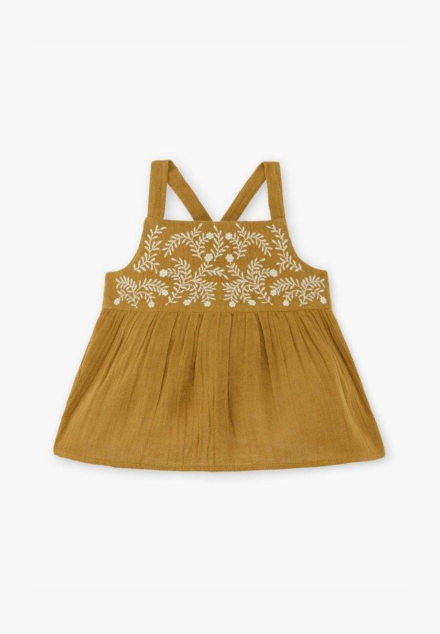 Korte jurk - bronze