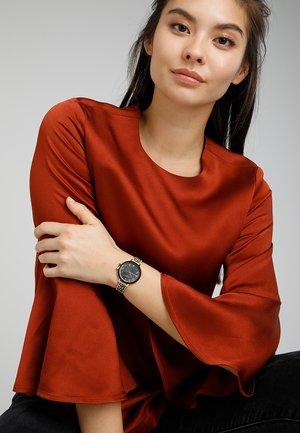 PARK ROW - Watch - beige/braun/schwarz