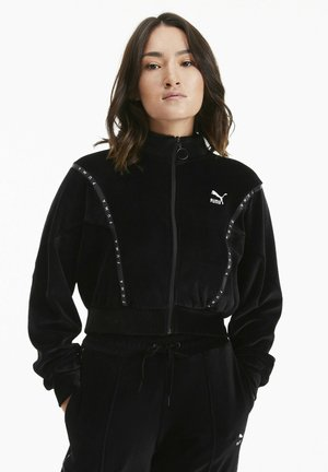 veste en sweat zippée - puma black