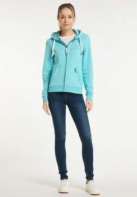 Schmuddelwedda - Zip-up sweatshirt - rauch aqua melange - 1
