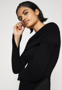 Gina Tricot - OFELIA OFF SHOULDER - Jumper - black - 3