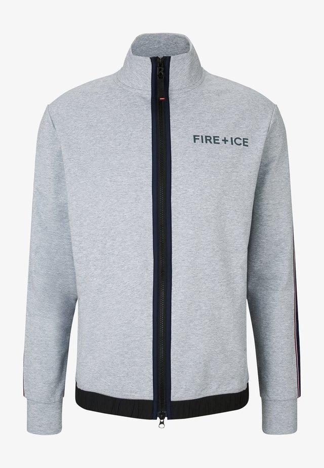 JARED - Zip-up sweatshirt - hellgrau