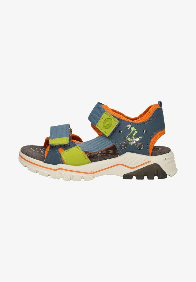 Walking sandals - pavone/papaya
