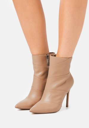 JULIANA - High heeled ankle boots - nude