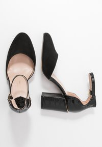 Dorothy Perkins Wide Fit - WIDE FIT DEBS ROUND TOW TWO PART COURT - Høye hæler - black - 3
