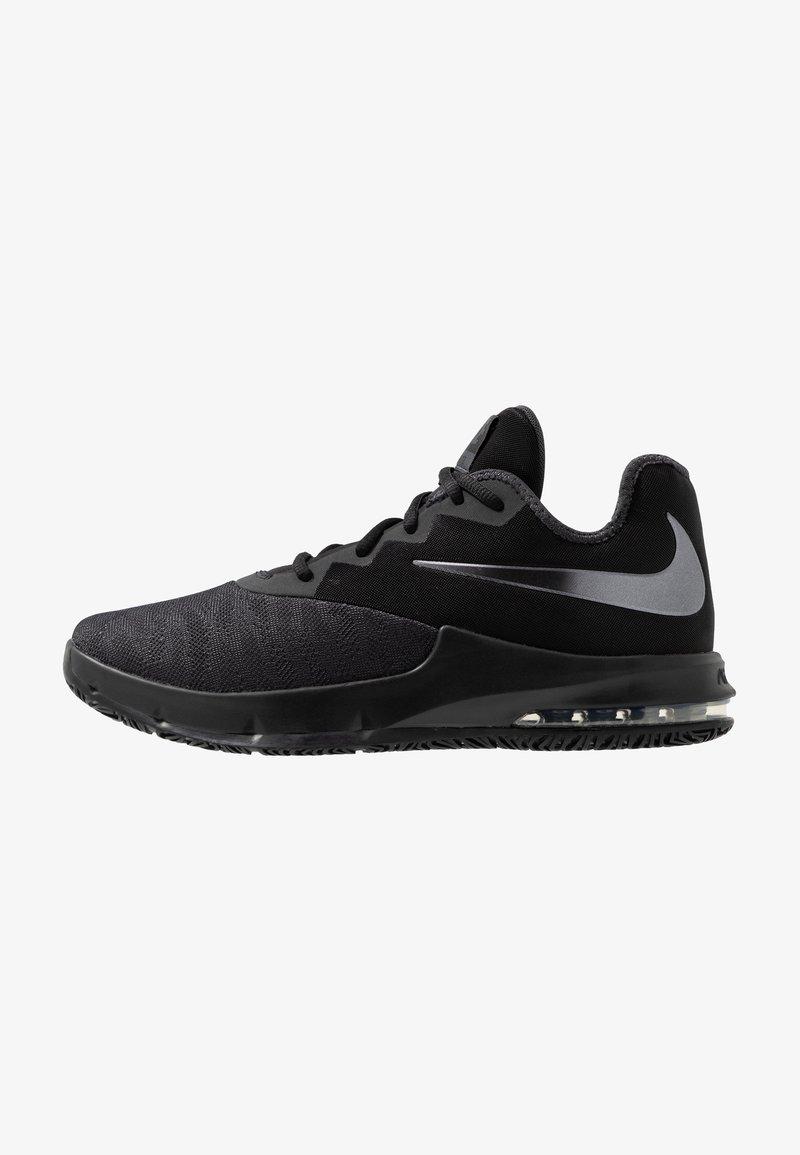 Nike Performance - AIR MAX INFURIATE III LOW - Basketball shoes - black/metallic dark grey/anthracite