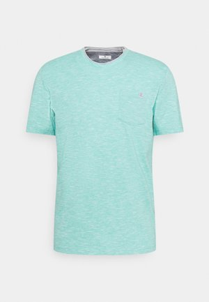 FINELINER WITH POCKET - T-shirts basic - dusty aqua white fine stripe