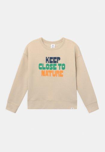 BOY GRAPHIC CREW - Sweatshirt - stone