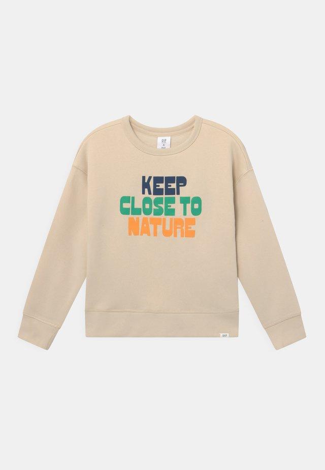 BOY GRAPHIC CREW - Sweater - stone