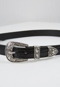 Pieces - PCLAUREN WAIST BELT - Midjebelte - black/silver-coloured - 2