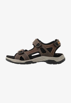 Walking sandals - mokka