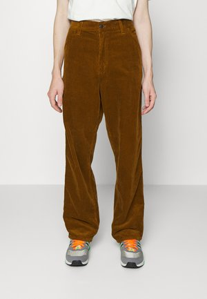 SINGLE KNEE PANT COVENTRY - Tygbyxor - tawny rinsed