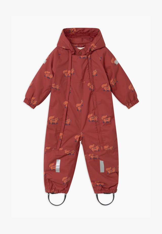 FOXES SNOW  - Snowsuit - dark brown/sienna
