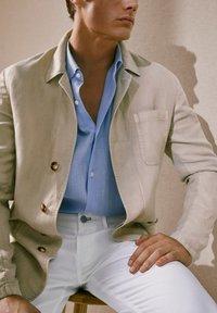 Massimo Dutti - blazer - beige - 5