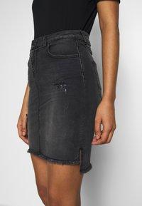 LTB - MIRAH - Denimová sukně - black denim - 3