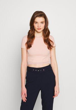 T-shirts med print - rose dust