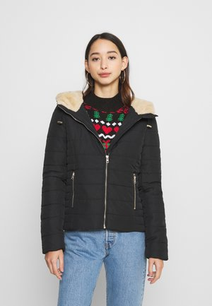 ONLSHELLY HOODED SHORT JACKET - Light jacket - black