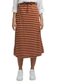 Esprit - A-line skirt - caramel - 0