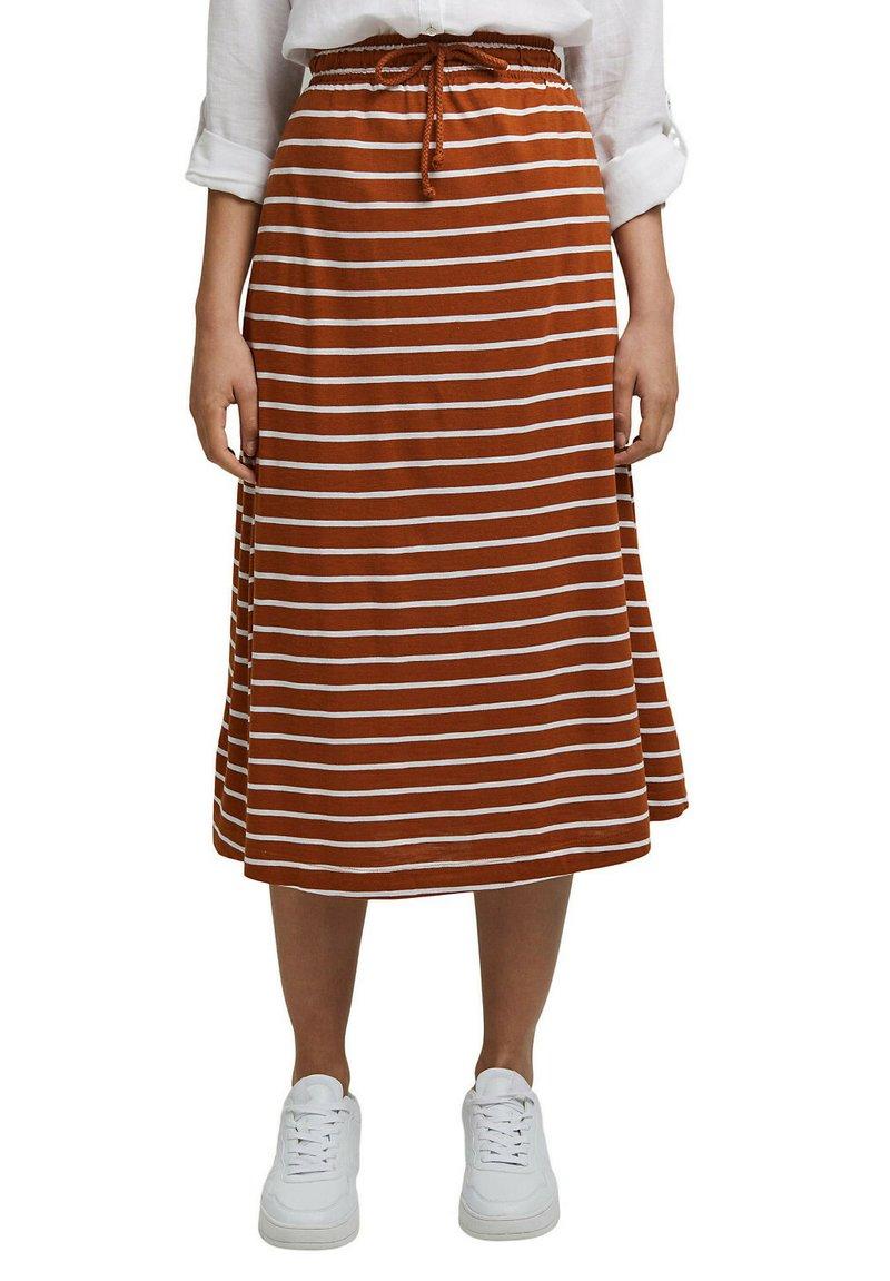 Esprit - A-line skirt - caramel