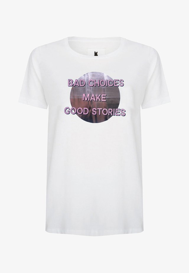 BAD CHOICES MAKE GOOD STORIES - T-shirt print - white