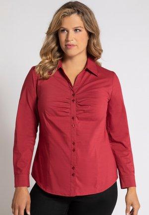 Button-down blouse - dunkelrot