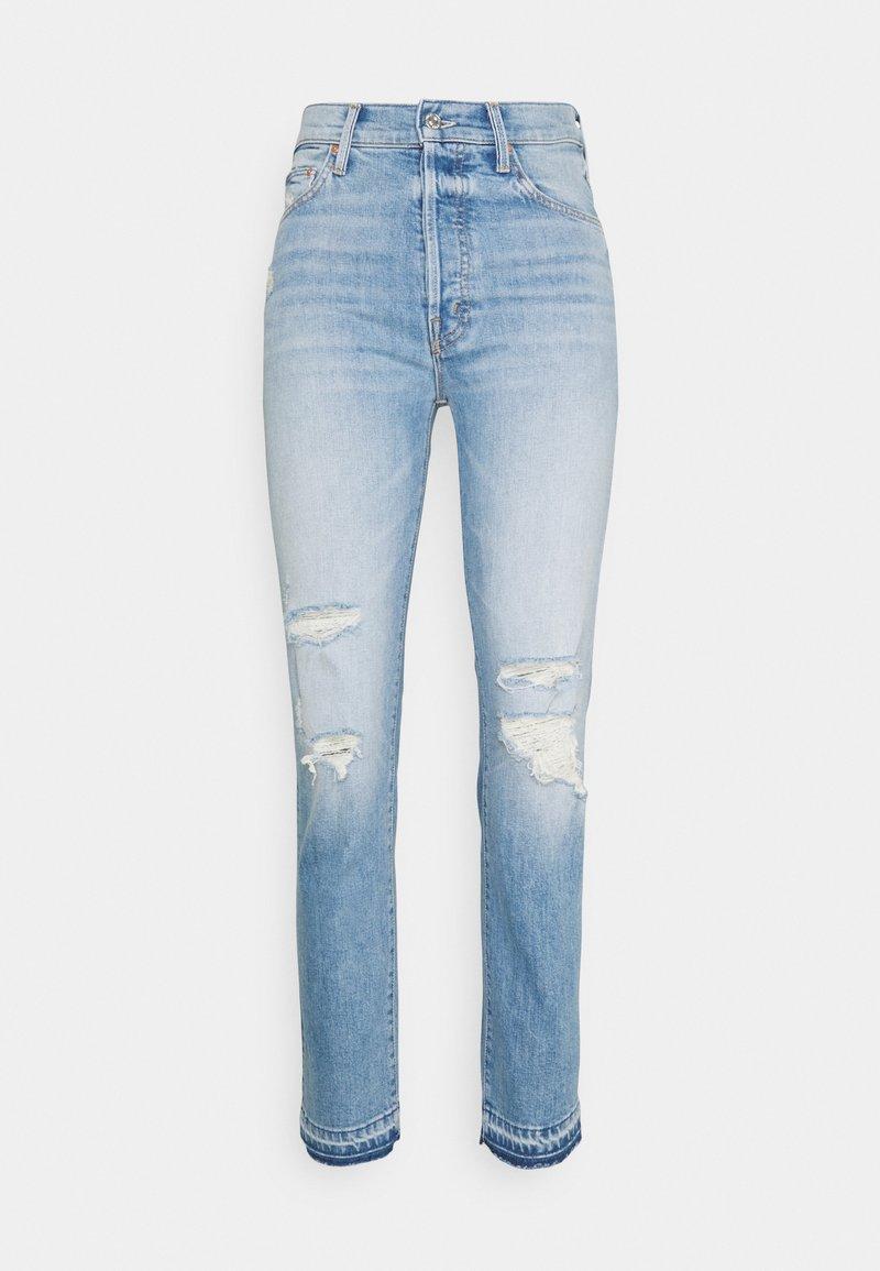 Mother - HIKER HOVER UNDONE - Straight leg jeans - light blue