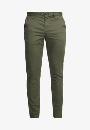 MOTT CLASSIC SLIM FIT - Pantalones chinos - military