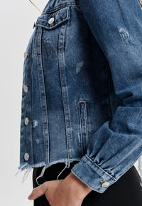 ONLY - DESTROYED - Denim jacket - medium blue denim - 3