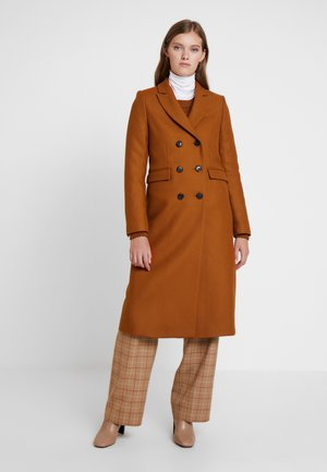 CLASSIC DOUBLE BREASTED COAT - Classic coat - caramel