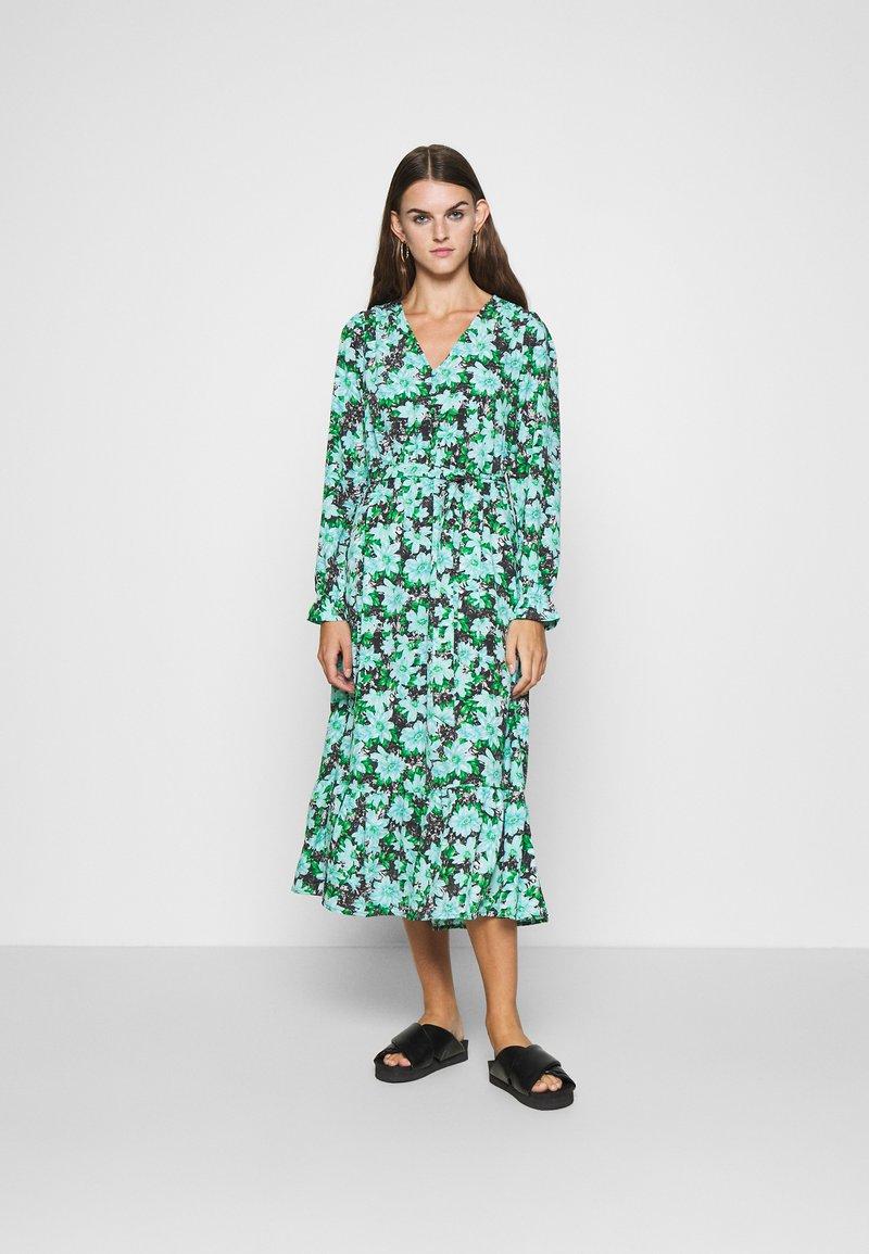 ONLY - ONLJILL MID CALF DRESS - Kjole - black/blue