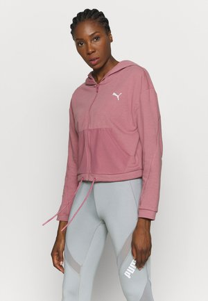 PAMELA REIF X PUMA COLLECTION FULL ZIP HOODIE - veste en sweat zippée - mesa rose